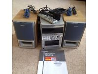 Aiwa compact disc stereo cassette receiver XR-M55 with speakers, remote etc £25