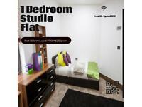 Modern 1 Bedroom Studio Flat (Part BILLS Included)