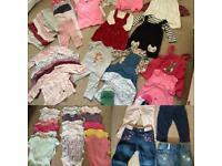 6 - 9 months girls large clothes bundle