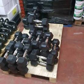 Pair of 6kg bodymax hex dumbbells