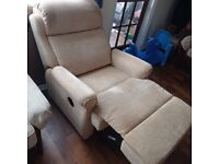 Recliner Chair - Beige - Manual - Excellent Condition