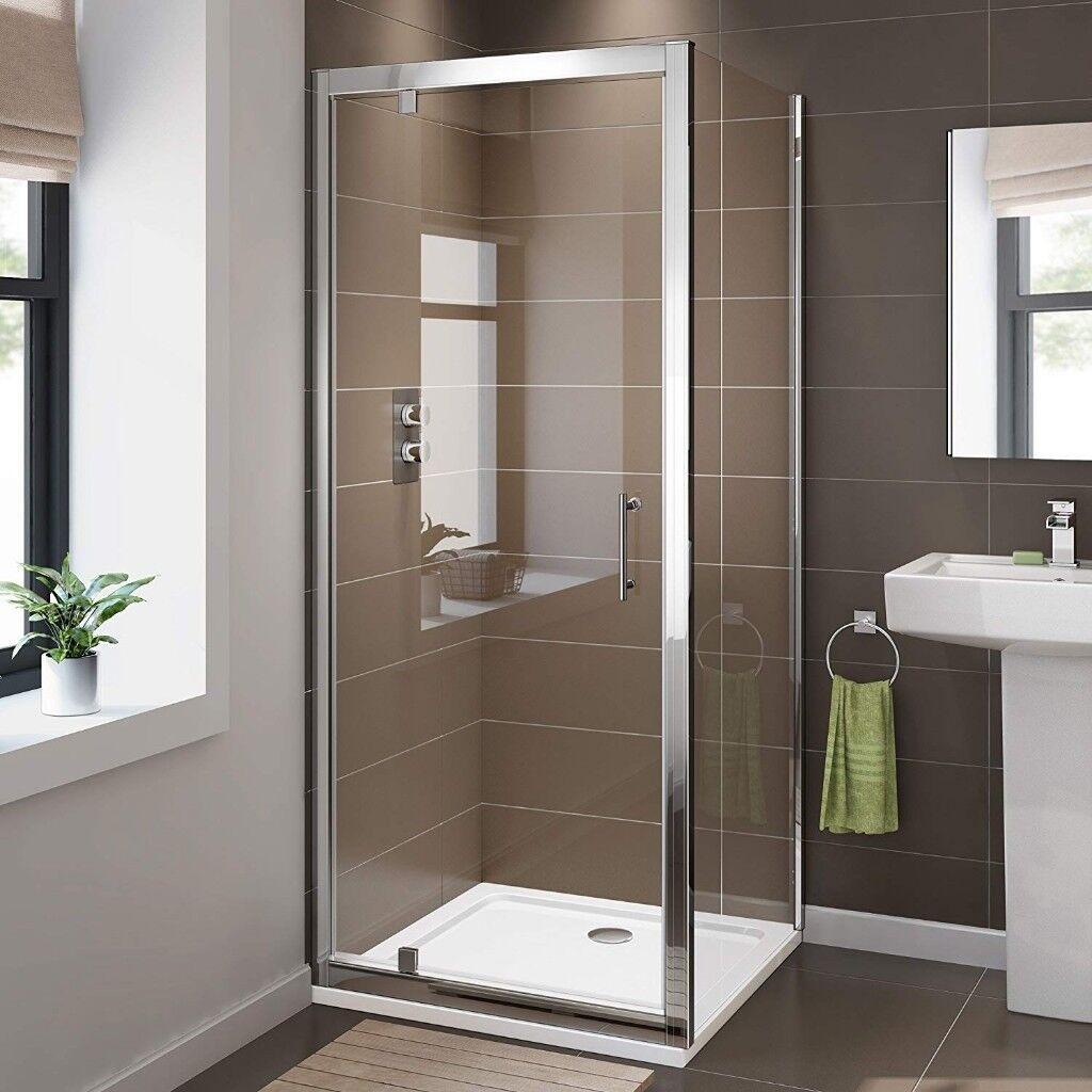 Brand New 800 X Pivot Hinge 6mm Glass Shower Enclosure Reversible Cubicle Door Side