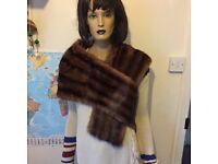 Vintage mink fur shawl/scarf