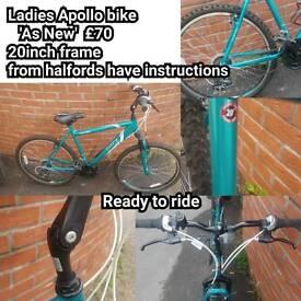 Ladies Apollo bike 20inch frame 'As New'
