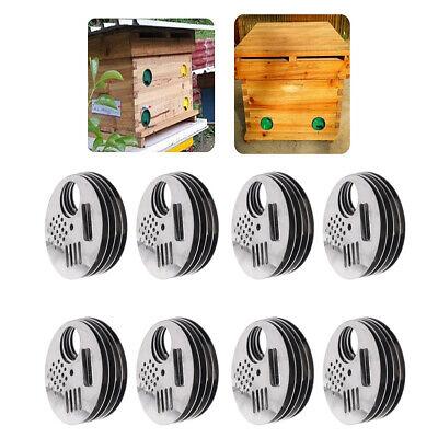 40x Stainless Steel Bee Hive Entrance Beekeepers Tool Beekeeping Equipment