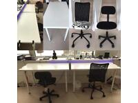 Work desk & office chairs