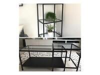 Ikea coffee table set and shelving unit