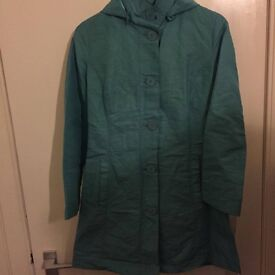 Size 8, turquoise summer coat from M&S - in excellent condition