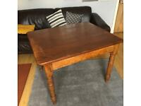 Vintage Farmhouse Kitchen Table with Single Drawer - refurbishment / upcycle project