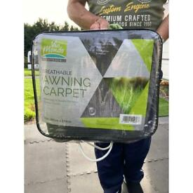 Breathable awning carpet