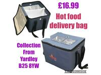 Professional hot food delivery bag