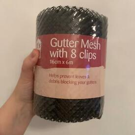 gutter mesh with 8 clips