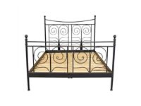 ikea Noresund king size bed frame, slats and mattress
