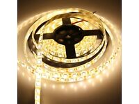 10M Warm White SMD 3528 LED Strip Lights 600LEDs Waterproof Party Weddings