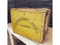 "Fabulous antique pine crate marked ""Ravenscroft & Jones Liverpool"