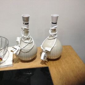 Two lamp bases