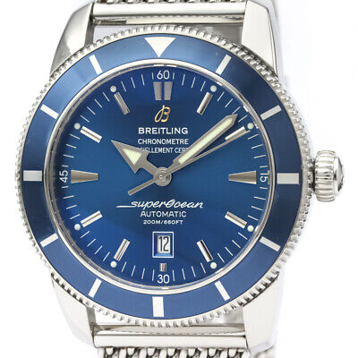 Polished BREITLING Super Ocean Heritage 46 Steel Automatic Watch A17320 BF520323
