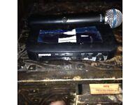 shure blx4 wireless receiver + wirless transmitter mic sm58