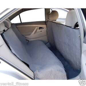 Premium Hammock Suv Sedan Truck Car Back Seat Cover for Dogs Cats Pets - Gray