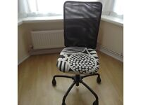 Black and white swivel chair excellent condition