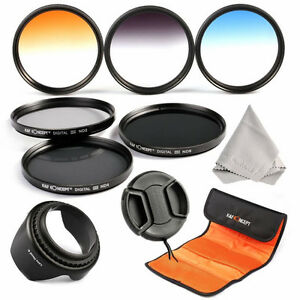 67mm Graduated Colour ND2 4 8 Neutral Density Lens Filter Kit For Canon Nikon