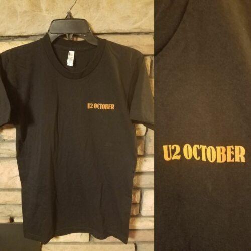 U2 Shirt SMALL Short Sleeve Concert t BLACK U2 October Logo on chest NEW