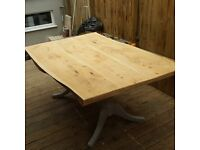 Rustic Homemade Dining Table + 4 Chairs