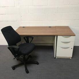 Office desk and pedestal