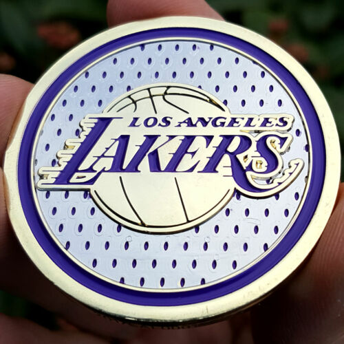 PREMIUM NBA Los Angeles Lakers Poker Card Guard Chip Protector Golf Marker Coin