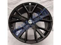 V66* 4X NEW ALLOY WHEELS 21 INCH ALLOYS BLACK VW VOLKSWAGEN T ROC TIGUAN 5X112 R21