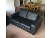 Almost new Grain Leather two seater sofa