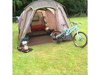 Full Camping gear setup, tent, porch, beds, cooker, pumps etc etc