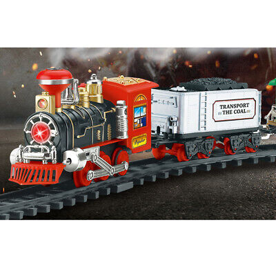RC Christmas Train Set - Around the Xmas Tree w/ Real Smoke Music & Lights