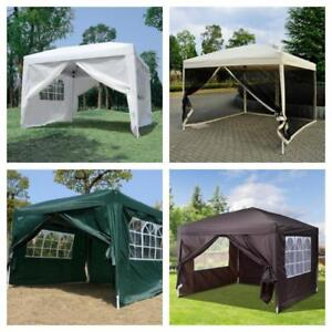 "FREE DELIVERY @ WWW.BETEL.CA || 10x10 ft ""Easy Pop Up"" Wedding, Party, Pavilion Tents with Sides 