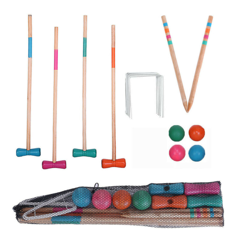 Outdoor Premium 6-Player Croquet Set For Adults Kids