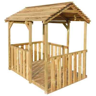 vidaXL Outdoor Pavilion Playhouse 122.5x160x163cm FSC Pinewood Garden Cottage