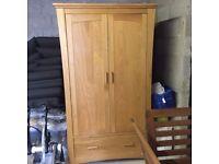 Mamas & Papas Baby Dresser/Changer & Oak Wardrobe