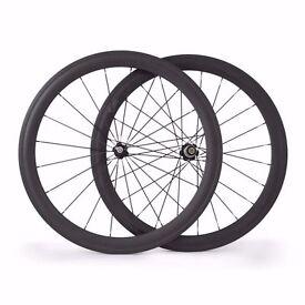 Carbon Bike Bicycle Wheels Wheelset 700c Road Racing 52mm Clincher New Matt Basalt Braking Line