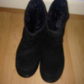 Hotter Suede Black Boots