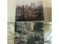 2 Newyork canvas pictures