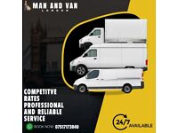 24/7 shortnotic man and van house removal delivery service home movers man with van