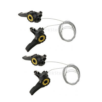 2x 3x5//6//7 Speed Thumb Shifter Bicycle Rear Derailleur Cable Accessories