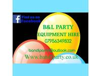 B&L party equipment hire bouncy castles