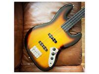 Harley Benton JB-40FL Fretless Bass
