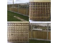 🌲Tanalised Wooden/ Timber Trellis Fence Panels