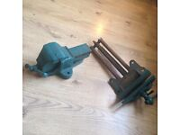 Heavy duty vintage vice and tool