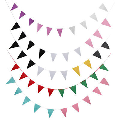 Non-woven Fabric Triangle Pennant Banner Garland Wedding Party Hanging Decor - Fabric Pennant Banner