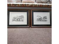 Reduced price. 2 large Glenda Rae prints in frames