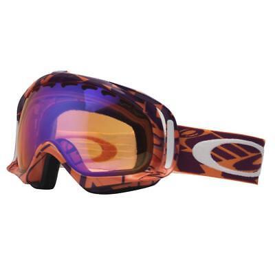 Oakley 01-895 CROWBAR Helio Purple Block Text Persimmon Mens Snow Ski Goggles .