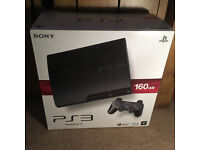 Playstation 3 console and headset